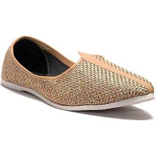 Skylyf Brown Jute Casual Ethnic Mojari Mozari Jutti Juti Jooti Footwear