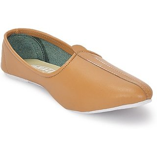 Skylyf Light Brown Jalsa Ethnic Mojari Mozari Jutti Juti Jooti Footwear