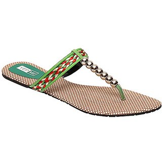Yepme Women's Stylish Green Sandals - Option 2