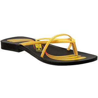 Yepme Women's Black & Yellow Sandals