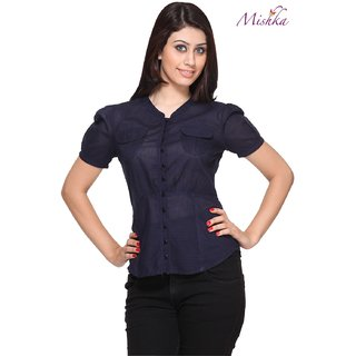 Mishka Navy Blue Formal Shirt