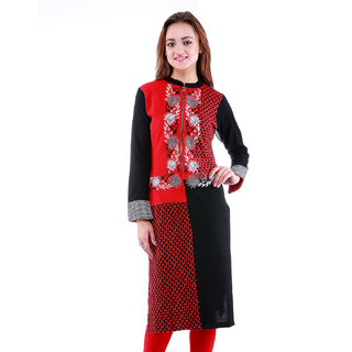 2b8d2f65fd1 Buy Dove Black Woolen Kurti Online   ₹1139 from ShopClues