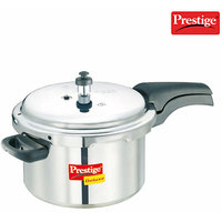 Prestige Deluxe Plus Aluminium Polished Cooker- 5 Ltrs