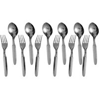 Set Of 12 Stainless Steel 6 Spoons And 6 Forks