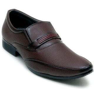 Oora Brown Kseries Slip On Formal Shoes For Men