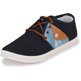 Afrojack MenS Cotton Black Canvas Sneaker Shoes