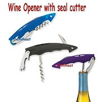 New Compact Wine Bottle Opener With Seal Cutter