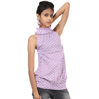 Rajrang Sublime Cotton Handmade Block Printed Halter Neck Top