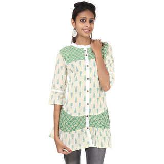 Rajrang Charming Cotton Handmade Block Printed Halter Neck Top
