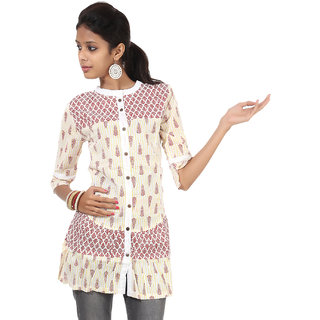 Rajrang Cute Cotton Handmade Block Printed Halter Neck Top