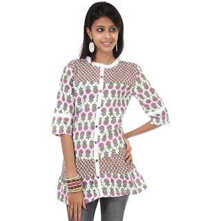 Rajrang Fascinating Cotton Handmade Block Printed Halter Neck Top