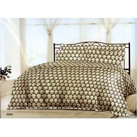 Bombay Dyeing Floral Fiesta Cotton Double Bedsheet with 2 Pillow Covers - White Grey