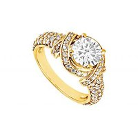LoveBrightJewelry 14K Yellow Gold Diamond Engagement Ring 1.25 CT