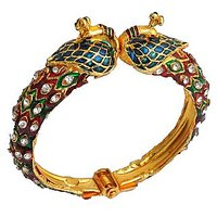 The Pari Peacock Multi-Colour Adjustable Alloy Bangle