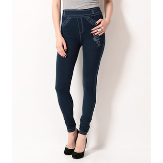 TSG BREEZE TREAT SEAMLESS JEGGINGS-102-NAVY COLOUR