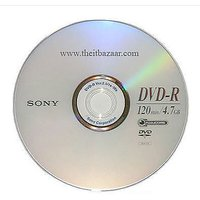 5 Pieces SONY DVD-R 4.7GB 16X Blank Disc In Plastic Sleeve