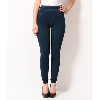 TSG BREEZE TREAT SEAMLESS JEGGINGS-104-NAVY COLOUR