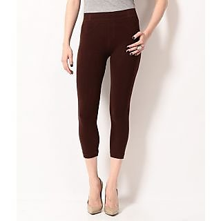 TSG BREEZE TREAT SEAMLESS JEGGINGS-105-BROWN COLOUR