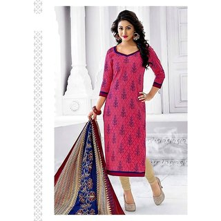 New Stylish 100 Color Combination Printed Cotton Unsched Dress Material