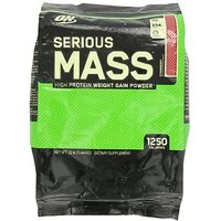 New Optimum Nutrition Serious Mass 12lbs Strawberry Flavor With Free Shaker