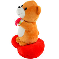 Deals India Musical Teddy Holding Flower On Heart