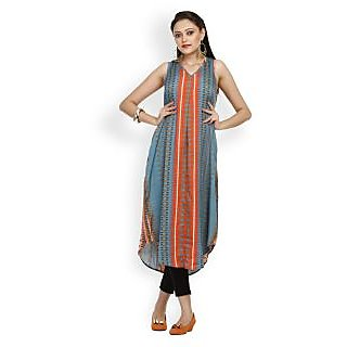 Atri Charming Multi Color Cotton Blend Sleeveless Top