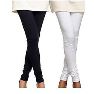 BLACK & WHITE COTTON Legging COMBO PACK [1BLACK+1WHITE] Size:	L