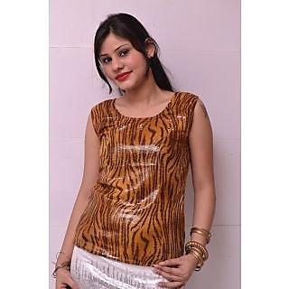 Trend-n-wow Sequin Top Dark Brown Color