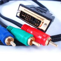 1.5M DVI-A MALE TO 3 RCA RGB COMPONENT VIDEO LEAD CABLE