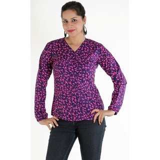 Urbane Woman Red Full Sleeve Shirt Look Top
