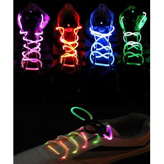 In Pair Multi-Color LED Light Up Waterproof Shoelaces-K106