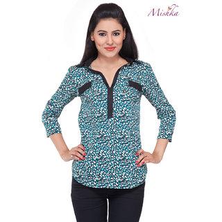 Mishka Black & Mint Designer Top