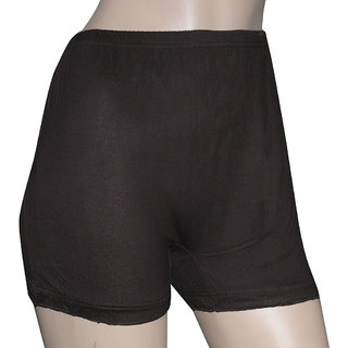 Poliss Coffee Brown Plain Shorts