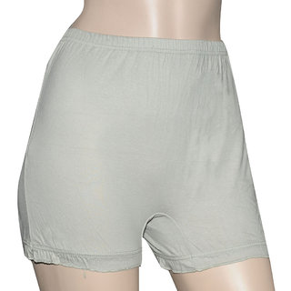 Poliss Light Grey Plain Shorts