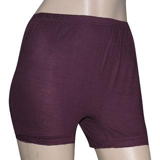 Poliss Maroon Plain Shorts