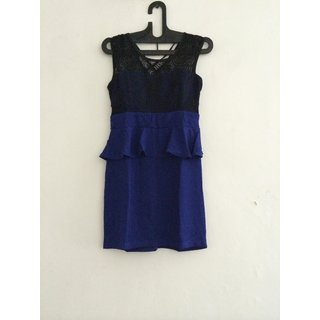 Women Dress/ Designer Ladies Dress/ Blue Color Dress