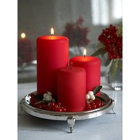 Skycandle.in Red Pillar Candle With Awesome Tea Rose Fragrance (Pack Of 2 Candles)