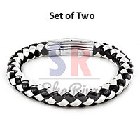 Leather Bracelet - Set Of Two