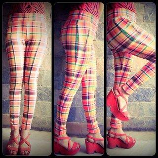 Print Slim Fit Pants