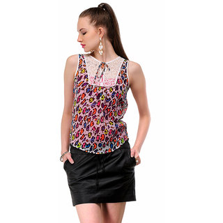 Yepme Krina Animal Print Top - Multicolor