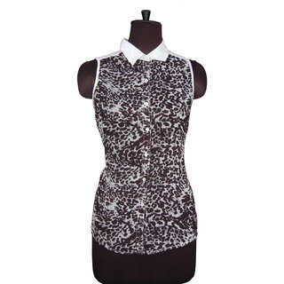 Panther Print Designer Casual Wear Ladies Shirt Stylish Animal Print Top