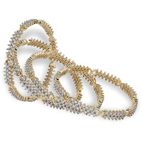 The New Exclusive Cubic Zircon Bangles (2 Pieces) Design 4