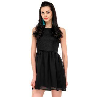 Yepme Pippa Lace Dress - Black