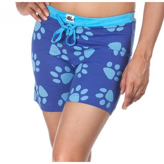 Nuteez Paws Blue Cotton Shorts