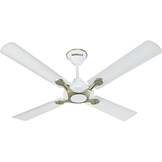 Havells 1200 mm Leganza 4B Ceiling Fan Pearl White Silver