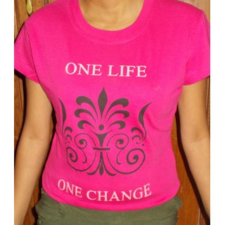 Pink Cotton T Shirt Small
