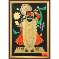 Beautiful Painting of Lord Shrinathji (SHRINGAR - WITH FRAME)
