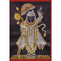 Beautiful Painting of Lord Shrinathji (SHARAD DARSHAN - WITHOUT FRAME)