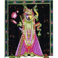 Beautiful Painting of Lord Shrinathji (Yugal Swaroop - WITH FRAME)