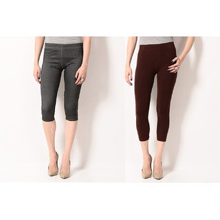 TSG BREEZE TREAT PACK OF 2 SEAMLESS JEGGINGS COMBO 1